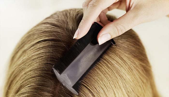 Гребень прочесывает волосы