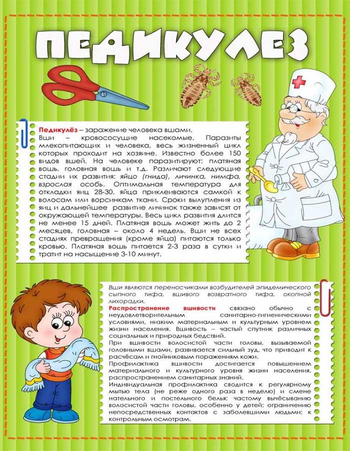 Педикулез меры профилактики в доу