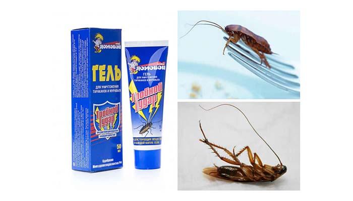 Гель от тараканов Тройной удар